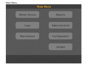 CashIO Access Operation by Employees Logging In Main Menu 2