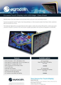 Encased Touch Display with LED Edge UK V1