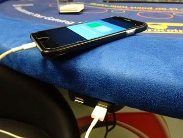 SitNCharge installed in casino