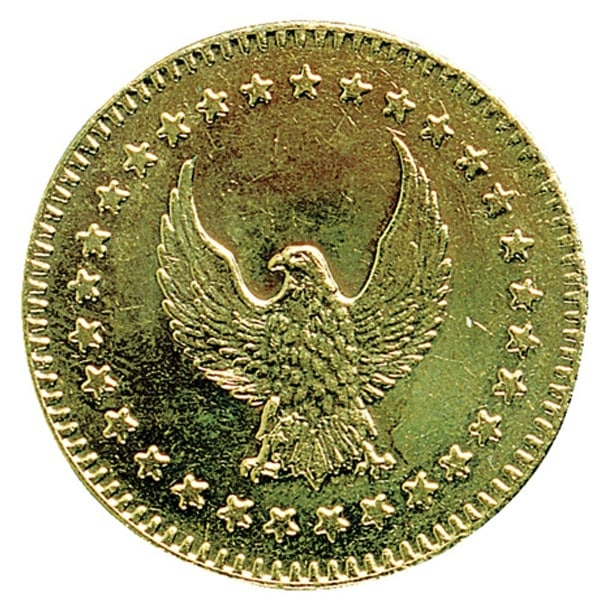 80823003 28.5x2.3 Eagle Brass Token b